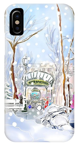 Snowing In Montmartre IPhone Case