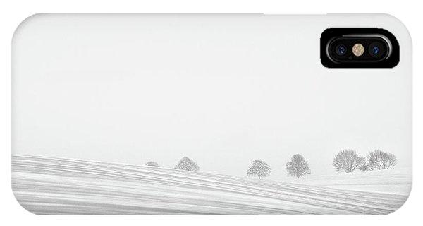 Snowy iPhone Case - Snowlines by Lou Urlings