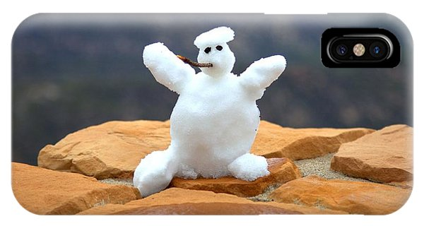 Snowman At Bryce - Square IPhone Case