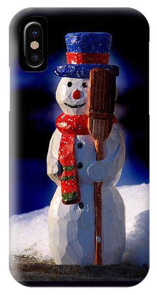 Snowman By George Wood IPhone Case