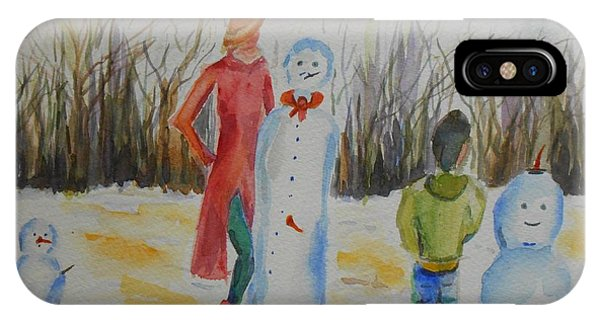Snowman Competition IPhone Case