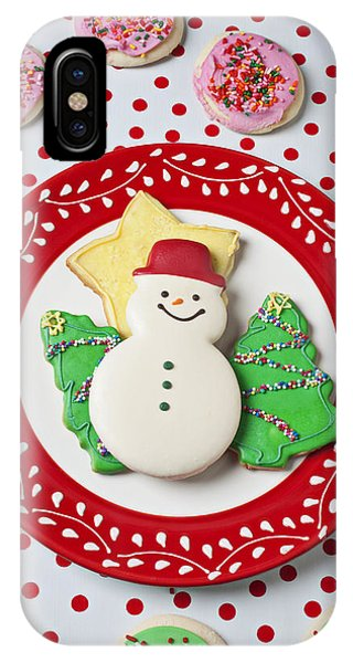 Snowman Cookie Plate IPhone Case