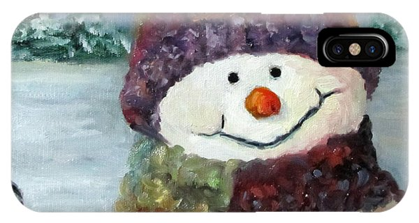 Snowman I - Christmas Series I IPhone Case