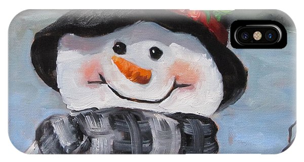 Snowman Iv - Christmas Series IPhone Case
