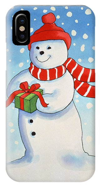 Snowmans Christmas Present IPhone Case
