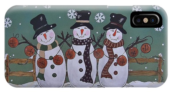Snowmen Jingle IPhone Case
