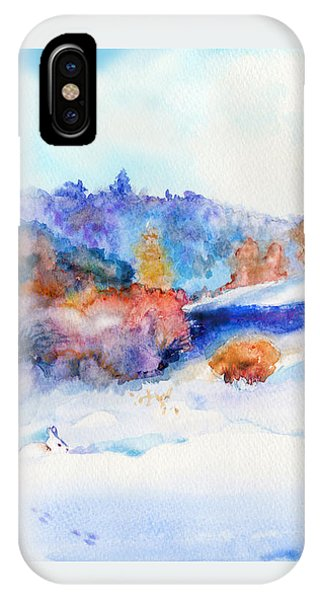 Snowshoe Day IPhone Case