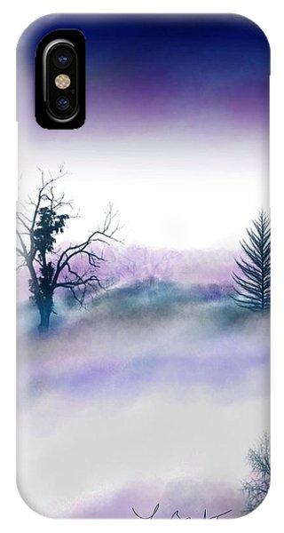 Snowstorm In Catskill Ipad Version IPhone Case