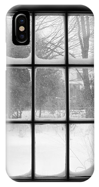 Snowstorm Outside The Windowpanes IPhone Case