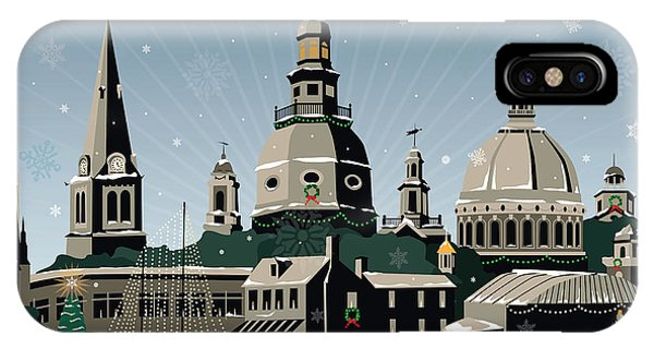 Snowy Annapolis Holiday IPhone Case