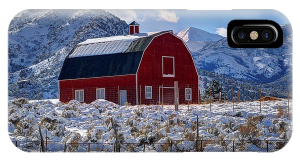 Snowy Barn In The Mountains - Utah IPhone Case