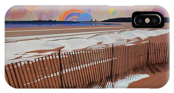 Snowy Beach IPhone Case
