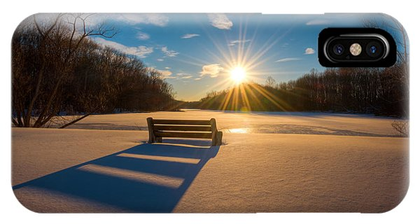 Michael iPhone Case - Snowy Bench by Michael Ver Sprill