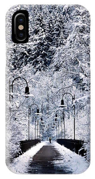Snowy Bridge IPhone Case