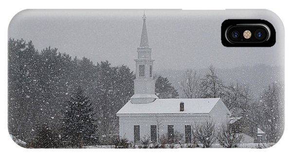 Snowy Church IPhone Case