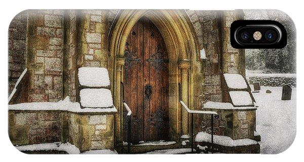 Snowy Church Door IPhone Case