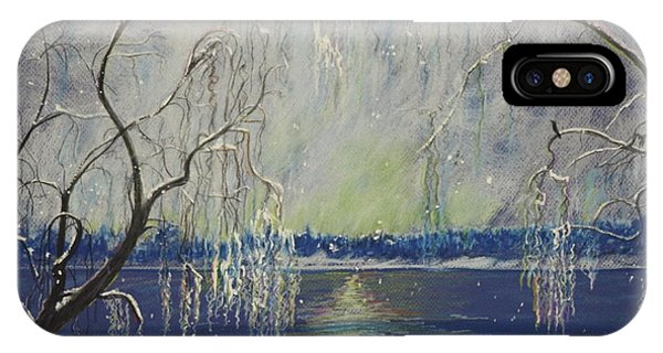 Snowy Day At The Lake IPhone Case