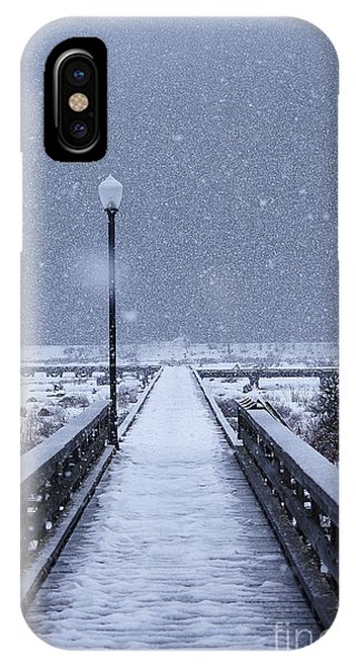 Snowy Day On The Boardwalk IPhone Case