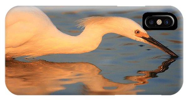 Snowy Egret Mirror IPhone Case