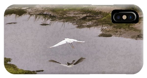 Great Egret Phone Case by Photographic Art by Russel Ray Photos