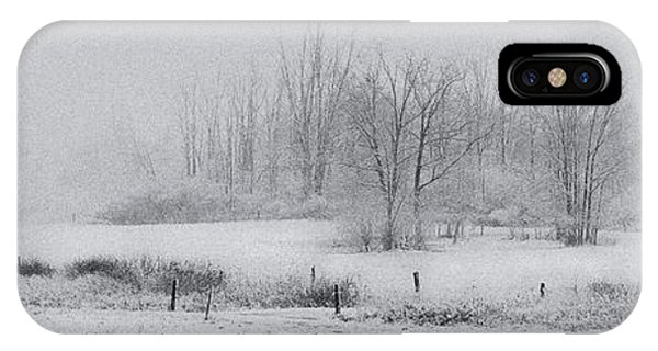 Snowy Fields IPhone Case