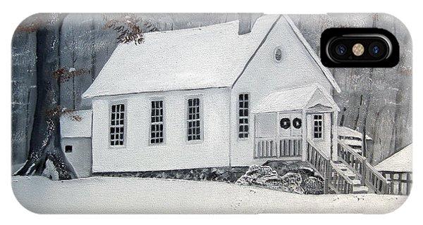 Snowy Gates Chapel  -little White Church - Ellijay IPhone Case