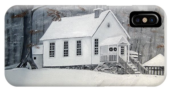 Snowy Gates Chapel  -little White Church - Ellijay IPhone Case