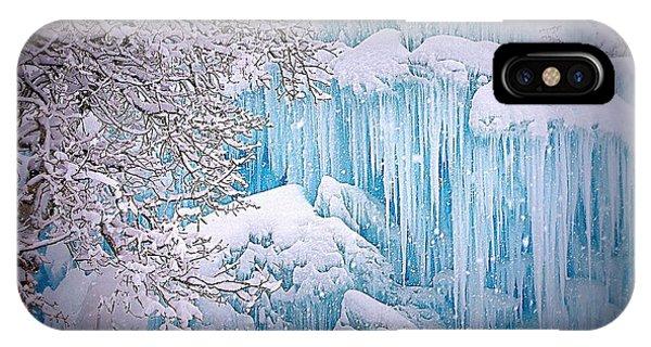 Snowy Ice Castle IPhone Case