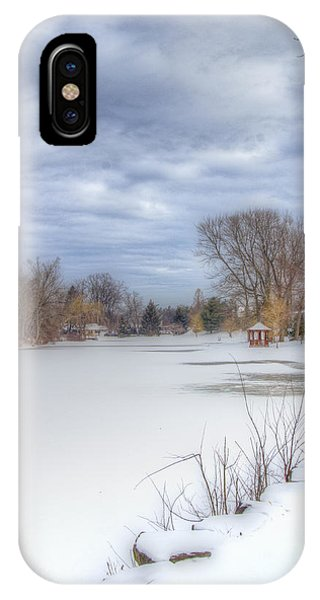 Snowy Lake IPhone Case