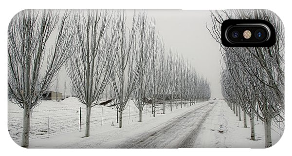 Snowy Lane IPhone Case