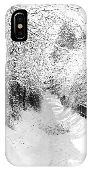 Snowy Lane IPhone Case