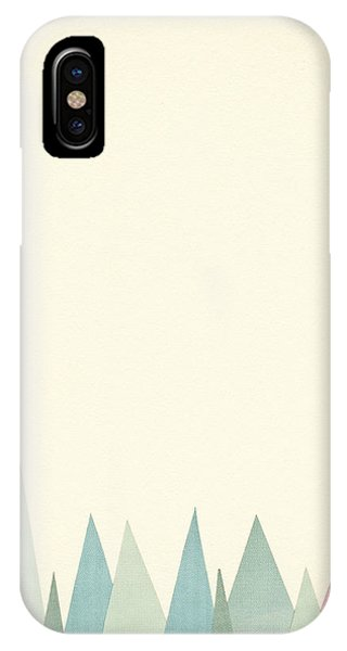 Simple iPhone Case - Snowy Mountains by Cassia Beck