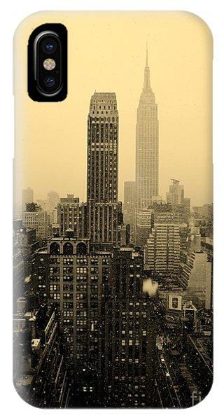 Snowy New York Skyline IPhone Case