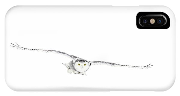 Winter iPhone Case - Snowy Owl On The Hunt by Jim Cumming