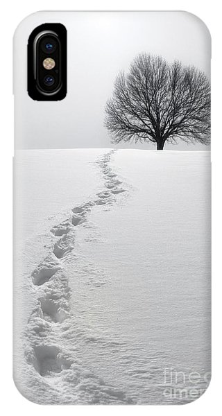 Spirituality iPhone Case - Snowy Path by Diane Diederich