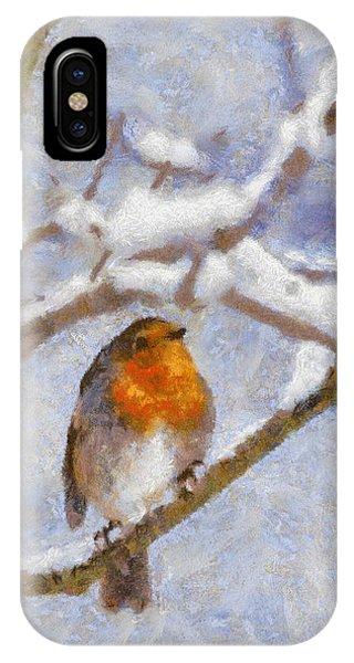 Snowy Robin IPhone Case