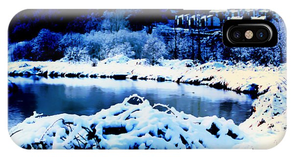 Snowy Sammamish River Bothell Washington IPhone Case