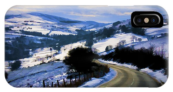 Snowy Scene And Rural Road IPhone Case