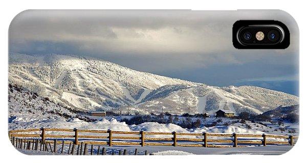 Snowy Scene IPhone Case