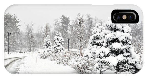 Snowy Snow Scene IPhone Case
