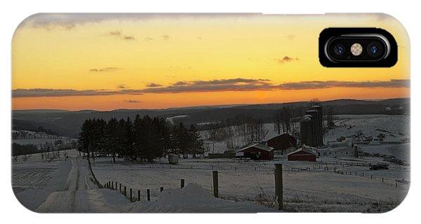 Snowy Pennsylvania Sunset IPhone Case