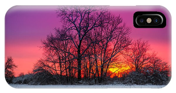 Snowy Sunset IPhone Case