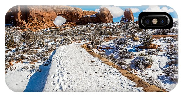 Snowy Trail To The North Window IPhone Case