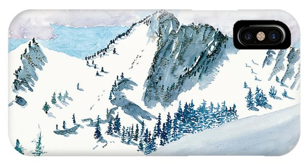 Snowy Wasatch Peak IPhone Case
