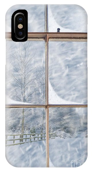 Frost Glass iPhone Case - Snowy Window by Amanda Elwell
