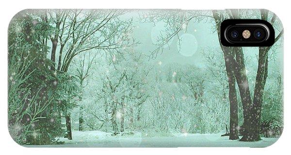Snowy Winter Night IPhone Case