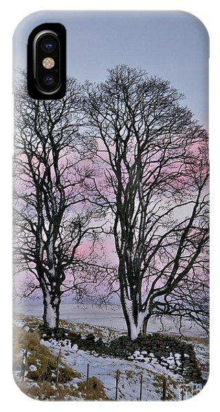 Snowy Winter Treescape IPhone Case