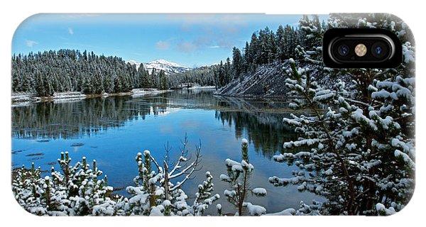 Snowy Yellowstone  IPhone Case