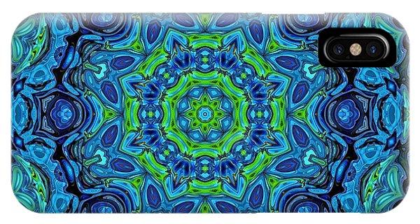 So Blue - 43 - Mandala IPhone Case
