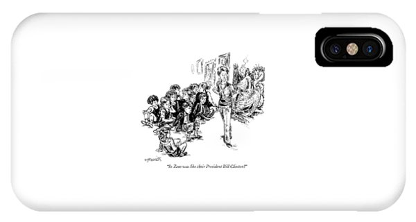 So Zeus Was Like Their President Bill Clinton? IPhone Case